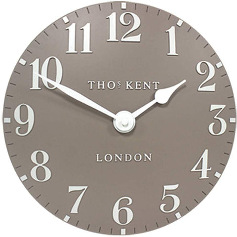 "Thomas Kent 12"" Arabic Clay Wall Clock"