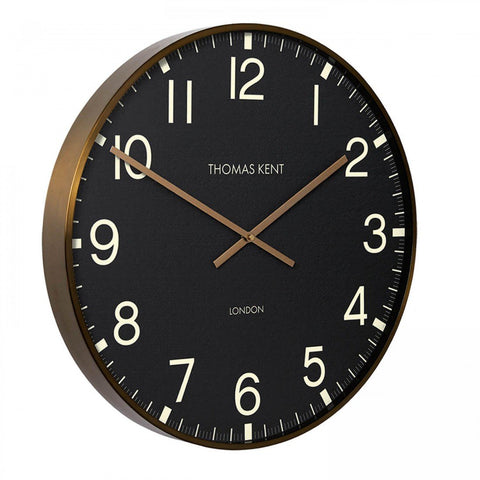 "Thomas Kent Wall Clock 21""Clocksmith Brass"