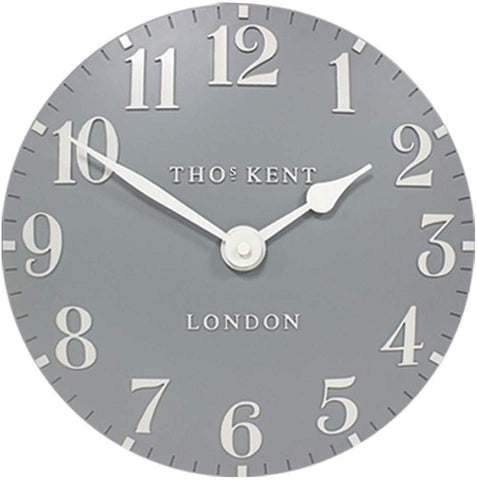 "Thomas Kent 12"" Arabic Blue Flax Wall Clock"