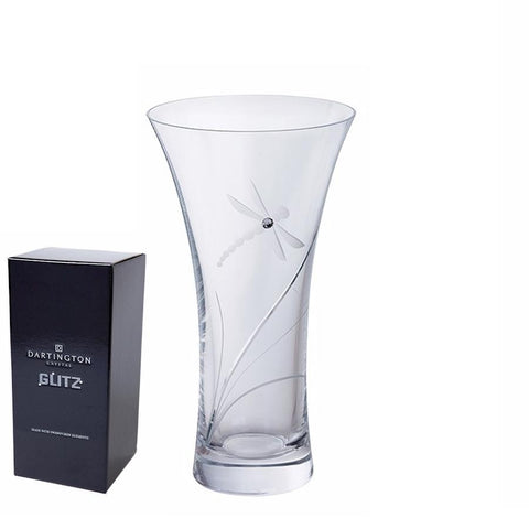 Dartington Crystal Large Dragonfly Glitz Vase
