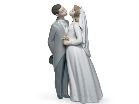 LLADRÓ A Kiss To Remember Couple Figurine