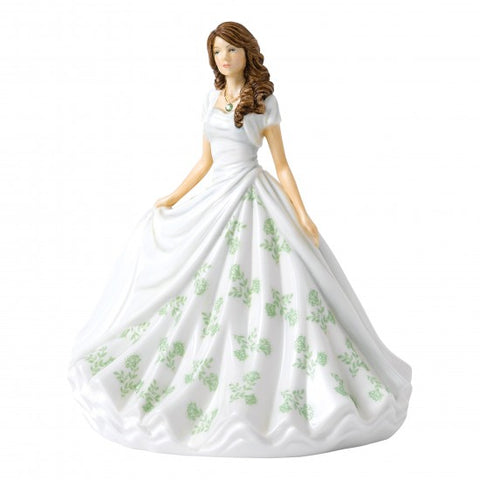 Royal Doulton - Birthstone Petite Lady Figure  August, Peridot