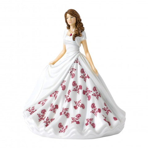 Royal Doulton - Birthstone Petite Lady Figure July, Ruby