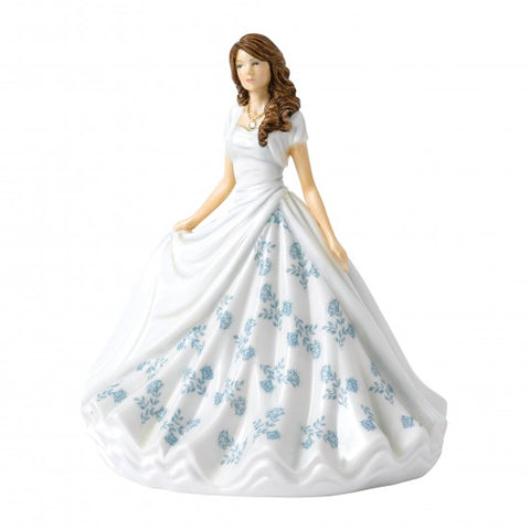 Royal Doulton Birthstone Petite Lady Figure June, Pearl