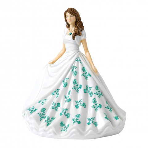 Royal Doulton Birthstone Petite Lady Figure May, Emerald