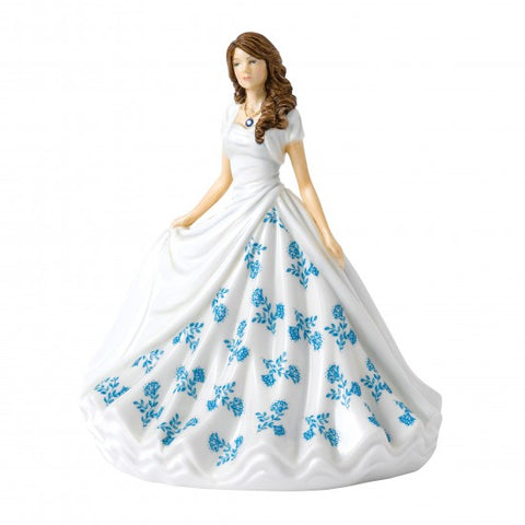 Royal Doulton - Birthstone Petite Lady Figure September, Sapphire