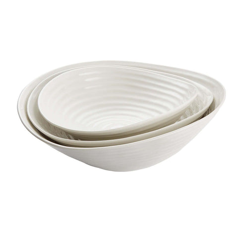 Portmeirion Sophie Conran White Salad Bowls set of 3 Boxed