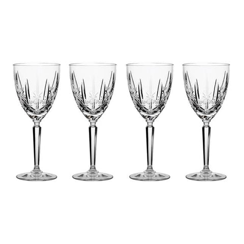 Waterford Crystal Marquis Sparkle Oversized Wine Goblet set of 4