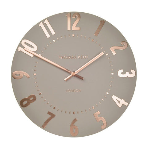 "Thomas Kent 12"" Clock Mulberry Rose Gold"