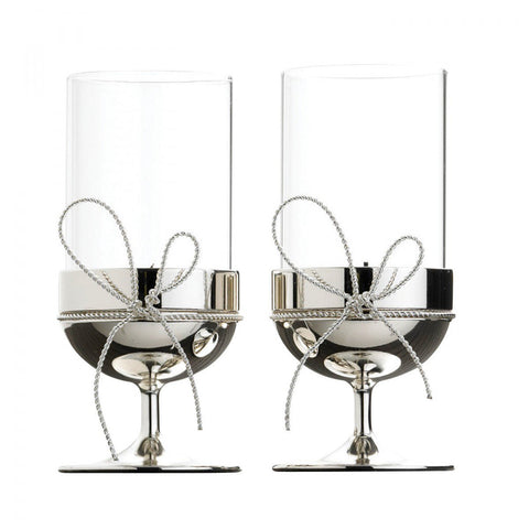 Vera Wang Love Knots Tealight Holders (Set of 2)