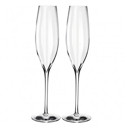 Waterford Elegance Optic Champagne Flute pair