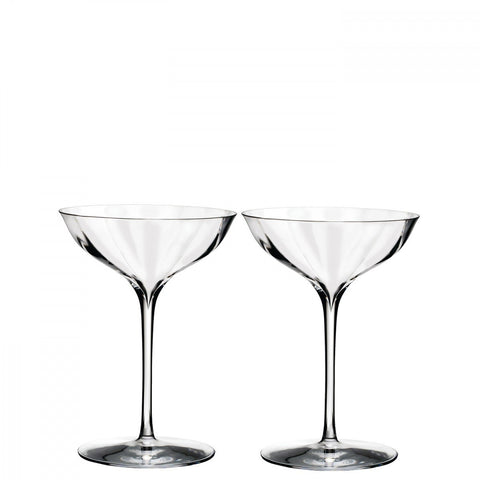 Waterford Elegance Optic Champagne Belle Coupe pair