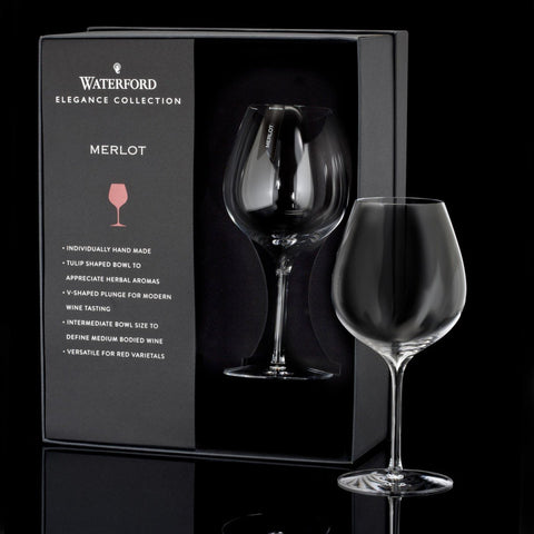 Waterford Crystal Elegance Merlot Wine Glass Pair