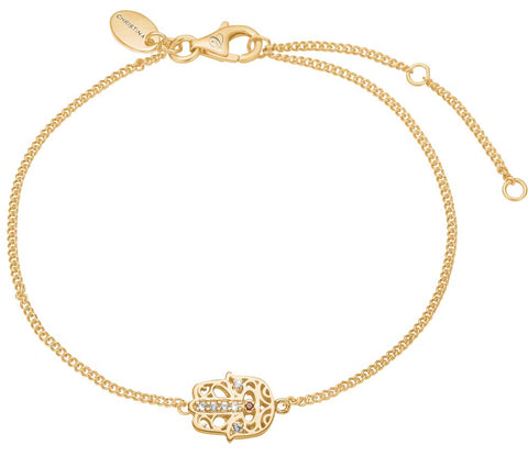 Christina jewelry & watches - Hamsa Hand, armbånd, forgyldt sølv - Modelnr: 601-G32
