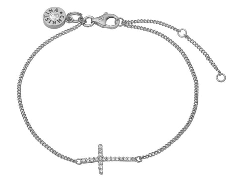 Christina Jewelry & Watches - sparkling  cross, bracelet, silver - Modelnr.: 601-S05
