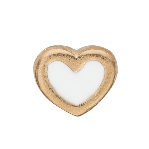 Christina Elements - White Enamel Heart gold pl - Modelnr: 603-G3