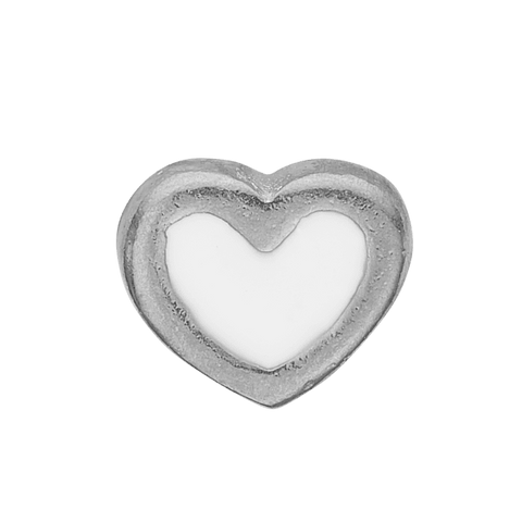 Christina jewelry & watches - Collect White Enamel Heart silver - Modelnr.: 603-S3