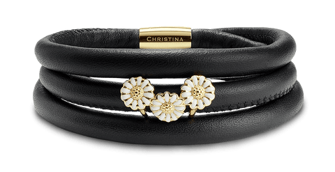Christina jewelry & watches - Campaign leather, Marguerite Trinity, goldpl - Modelnr.: 605-DEC2017-G
