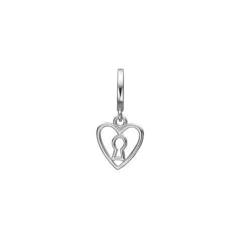 Christina Jewelry & Watches - Charm,  Keyhole Love, sølv - Modelnr.: 610-S75