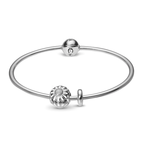 Christina jewelry & watches - Bangle Kampagne Sølv vedh. - Small - Modelnr.: 615-SB-S-SMALL