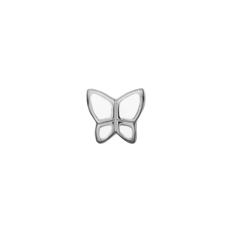 Christina jewelry & watches - Charm, Butterfly white, sølv - Modelnr.: 623-S41-white