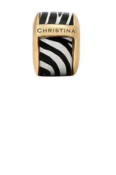 Christina Jewelry & Watches - Zebra print charm, gold plated - Modelnr: 630-G30-1