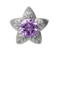 Christina Collect Charm - Amethyst Flower, silver - Modelnr: 650-S05