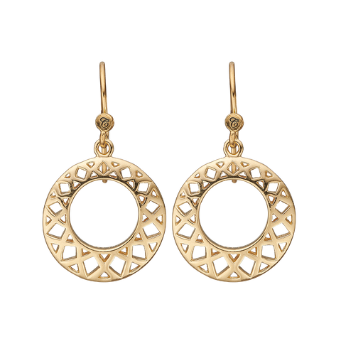 Christina Jewelry & Watches - Circles of Happiness, ear rings goldpl s - Model: 670-G24