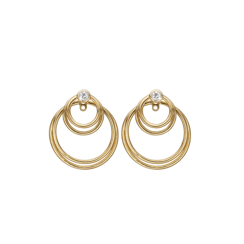 Christina Jewelry & Watches - Circles of Joy, ear rings, goldpl silver - Model: 670-G26