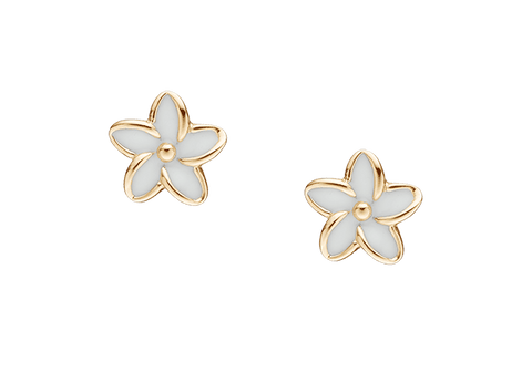 Christina jewelry & watches - Enamel Flowers, studs, goldpl silver - Modelnr.: 671-G02