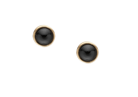 Christina jewelry & watches - Black Onyx, studs, goldpl silver - Modelnr.: 671-G20