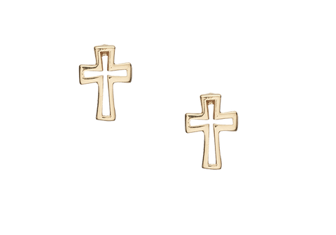 Christina jewelry & watches - Cross, studs, goldpl silver - Modelnr.: 671-G23