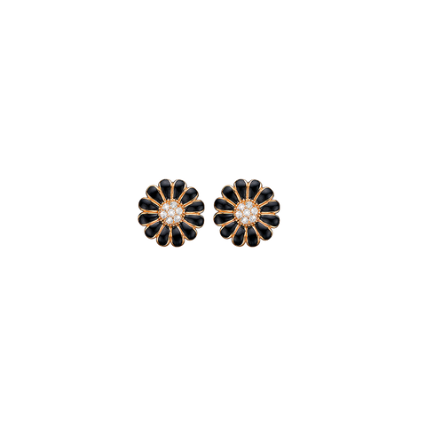 Christina jewelry & watches - Topaz Marguerites, goldpl silver, studs - Modelnr.: 671-G37Black