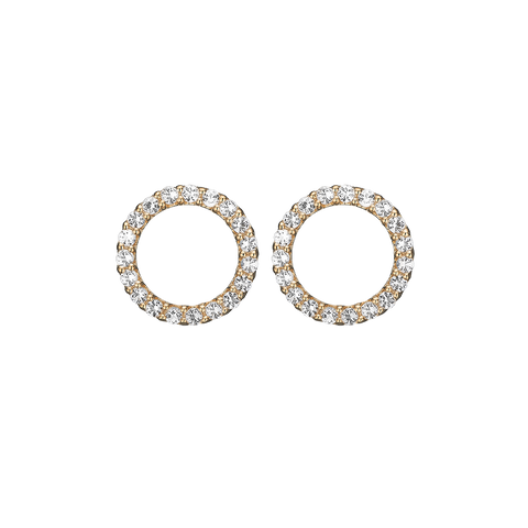 Christina jewelry & watches - Topaz Sparkling Circle, studs, goldpl - Modelnr.: 671-G43