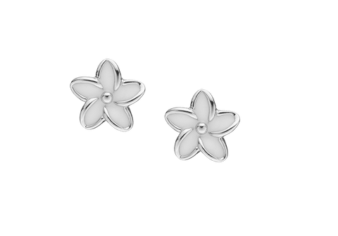 Christina jewelry & watches - Enamel Flowers, studs, silver - Modelnr.: 671-S02