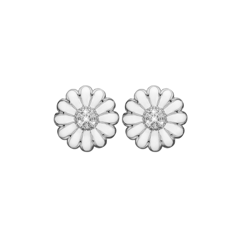Christina jewelry & watches - 12 mm Topaz Marguerites, studs, silver - Modelnr.: 671-S39