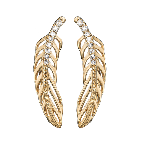Christina jewelry & watches - Topaz Feather Crawler, gold plated silver - Modelnr.: 672-G07