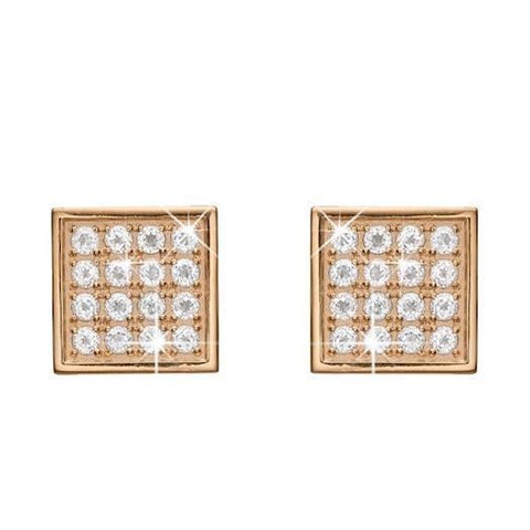 Christina Jewelry & Watches - Square Topaz Balance Clips, forgyldt sølv - Modelnr.: 674-G03