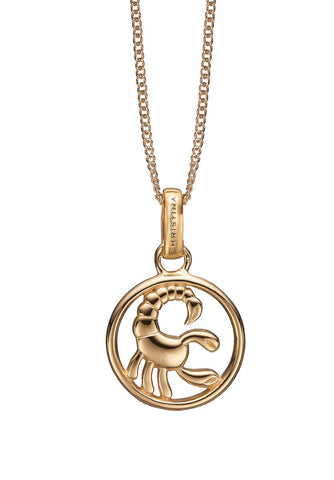 Christina jewelry & watches - Zodiac Scorpio Pendant, gold plated silver - Modelnr.: 680-G38-10