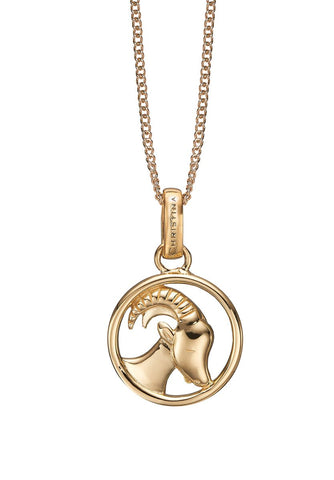 Christina jewelry & watches - Zodiac Capricorn Pendant, gold plated silver - Modelnr.: 680-G38-12