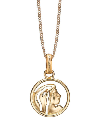 Christina jewelry & watches - Zodiac Virgo Pendant, gold plated silver - Modelnr.: 680-G38-8