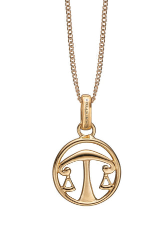 Christina jewelry & watches - Zodiac Libra Pendant, gold plated silver - Modelnr.: 680-G38-9