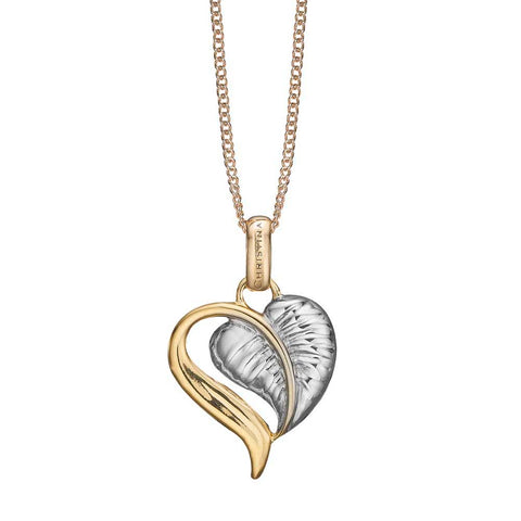 Christina jewelry & watches - Leaf of Love, vedhæng, forgyldt sølv - Modelnr: 680-G74