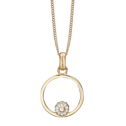 Christina jewelry & watches - Marguerite Circle, vedhæng, forgyldt sølv - Modelnr: 680-G82