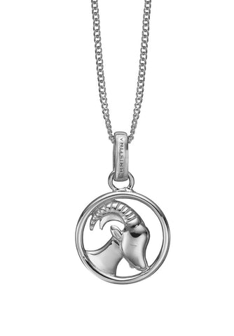 Christina jewelry & watches - Zodiac Capricorn Pendant, silver - Modelnr.: 680-S38-12