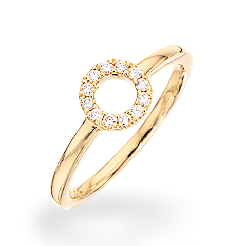 Scrouples - Ring 14 kt. cirkel 0,11 w/si - Model nr.: 709605