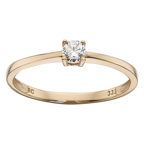 Scrouples - Ring 8 kt. m. zir - Model nr.: 709983