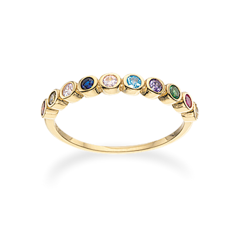 Scrouples - Ring 8 kt. rainbow synt. zir - Model nr.: 711423