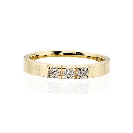 Scrouples - Grace diamant ring 14 kt. guld 3x0,04 w/si diamant - Modelnr.: 7755,3