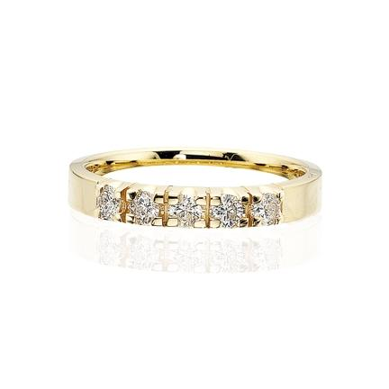 Scrouples - Grace diamant ring 14 kt. guld 5x0,04 w/si diamant - Modelnr.: 7755,5
